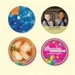 """Origin'L Fabric®3.6""""Round x1/8"""" Antimicrobial Coaster - Origin'L Fabric®3.6""""Round x1/8""""-Antimicrobial Drink Coaster-Made in the USA with brilliant, full color sublimation imprint"""