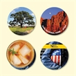 """Origin'L Fabric®4""""Round x1/8"""" Antimicrobial Drink Coaster - Origin'L Fabric®4""""Round x1/8""""-Antimicrobial Drink Coaster-Made in the USA with brilliant, full color sublimation imprint"""