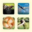 """Origin'L Fabric®3.6""""x3.6""""x1/16"""" Antimicrobial Coaster - Origin'L Fabric®3.6""""x3.6""""x1/16""""-Antimicrobial Drink Coaster-Made in the USA with brilliant, full color sublimation imprint"""