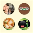 """Origin'L Fabric®3.6""""Round x1/16"""" Antimicrobial Coaster - Origin'L Fabric®3.6""""Round x1/16""""-Antimicrobial Drink Coaster-Made in the USA with brilliant, full color sublimation imprint"""