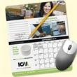 MousePaper(R) Calendar 24 Month (Portrait) Mouse Pad - Recycled Note Paper (Portrait) Mouse Pad - 5-Day Std; RUSH: 3-Day