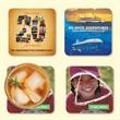 "Vynex®Heavy Duty 4""x4""x1/16"" Hard Surface Coaster - Vynex®Heavy Duty 4""x4""x1/16""-Hard Surface Drink Coaster-Made in the USA with vibrant, full color imprint"