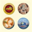 """Vynex®DuraTec®3.6""""Roundx1/8"""" Hard Surface Coaster - Vynex®DuraTec®3.6""""Round x1/8""""-Hard Surface Drink Coaster-Made in the USA with vibrant, full color imprint"""