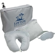 3 Piece Travel Pillow and Blanket Set - 3 piece travel set includes cuddle up pillow, fleece blanket, and eye mask.
