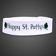 White Light Up Fabric Headband - Our white LED novelty Sweatband is perfect for imprinting and promotion of new business and much more
