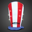 Flashing Patriotic LED Stove Top Hat - We are proud to be able to imprint on our flashing patriotic LED Stove Top Hat for promotional events with a patriotic theme!