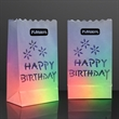 """Luminary """"Happy Birthday"""" Bags for LED Candles - Printed"""