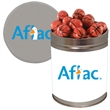 Half Quart Tin Containers with chocolate sports balls - Half Quart Tin containers with chocolate sports balls.  These Christmas tins are great as a holiday or corporate food gift.
