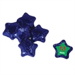Individually Wrapped Chocolate Stars - Individually wrapped chocolate stars candy with four color process decal on wrapper.