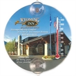 Five Inch Round Thermometer - Full color Five Inch Round Thermometer, indoor or outdoor with suction cups.