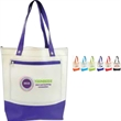 Histen Tote Bag - Natural look 600 denier polyester convention or shopping tote