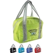 City Style Lunch Bag - Stylish 210 denier polyester foam insulated lunch bag.