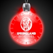 Bottle Cap Red Light-Up Acrylic Pendant Necklace