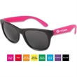 Neon Sunglasses - Black Frame - Sunglasses with ultraviolet protective lenses and black frames.
