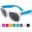 Neon Sunglasses - White Frame