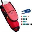 Golf Ball Caddy - Golf ball caddy, ultimate neoprene-like ball sleeve that clips to golf bags.