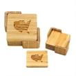 Square Bamboo Coaster Sets, 4 Coasters - Square Bamboo Coaster Sets, 4 Coasters
