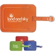 Frequent Flyer Luggage Tag - Leather like luggage tag with metal buckle.