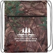 Outdoor Camo Drawstring Backpack with Zipper