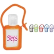 Tag Along Gel Sanitizer - Hand sanitizer gel in colored rubber tag-a-long case.