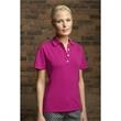 Women's Perfect Polo (TM) - Women's polo shirt with contrasting piping on the front and back sleeve seams