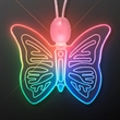 Color Morphing LED Butterfly Acrylic Necklace