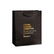 Euro Tote - Gloss Laminated - Gloss laminated european rope handle bag with matching macrame rope handles and reinforced cardboard top and bottom.