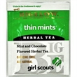 Bigelow Thin Mints Herbal Tea -  Girl Scouts - Single tea bag in sealed packet. Mint and Chocolate flavored Herbal Tea. Caffeine Free. All Natural. Gluten-Free.