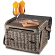 Kabrio - Anthology - A basket with built-wooden table top with wine and cheese service for two.