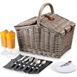 Piccadilly - Anthology - A double-lid basket with service for two.