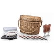 Romance - Adeline - A basket with deluxe service for two.