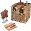 Vino - Adeline - Willow basket with wine and cheese.