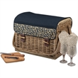 Kabrio - Dahlia - Basket with built-in wooden table top