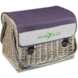 Kabrio - Aviano - Basket with built-in wooden table top & wine and cheese service for two