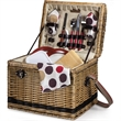 Yellowstone - Moka - Willow basket for two & carry strap