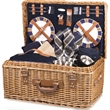 Windsor - English-style basket with deluxe picnic service for four.