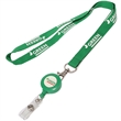 "3/4"" Polyester Lanyard with Retractable Reel Combo"