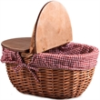 Country Basket - Willow picnic basket with split-lid.