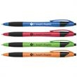 Ergo Select Click Pen - Ergo Select Click retractable ballpoint pen with black ink, black trim, and ribbed comfort grip.