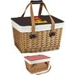 Canasta - Flat-lid empty picnic basket.