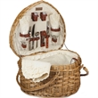 Heart Basket - Heart-shaped willow basket with service for two.