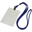 Flat Blank Lanyard with Clear Badge Holder Combo