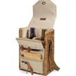 Corsica - Insulated, two-bottle wine basket with cheese service and corkscrew