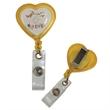 Heart Shaped Retractable Badge Reel