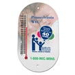 "Panorama II Wall Thermometer - Full color outdoor/indoor thermometer with 4"" tube."