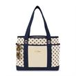 Audrey Fashion Tote - Preppy polka dot fashion tote bag.
