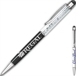 The iCrystal (TM) Stainless Steel Pen + Stylus - Twist action retractable stainless steel ballpoint pen plus stylus.