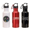 20 oz. Wide Mouth Aluminum Water Bottle w/Carabiner