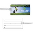 Luggage Tag with Clear Strap