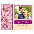 Couple / Roses Save the Date Magnet - Couple / Roses Save the Date Magnet